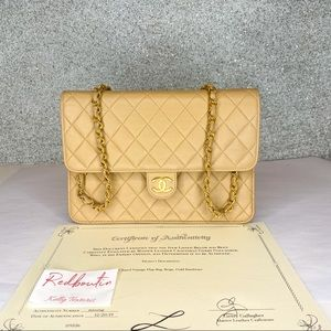 Chanel Classic Flap Bag Beige with gold hardware